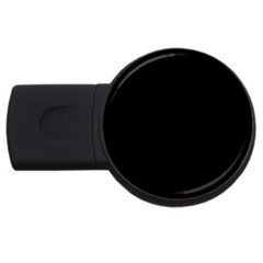 Black Gothic Usb Flash Drive Round (2 Gb)  by Costasonlineshop