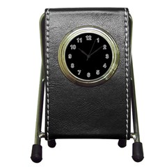 Black Gothic Pen Holder Desk Clocks by Costasonlineshop