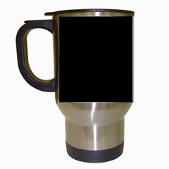 Black Gothic Travel Mugs (white) by Costasonlineshop