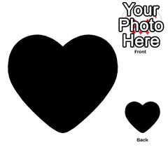 Black Gothic Multi Purpose Cards (heart)  by Costasonlineshop