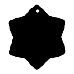 Black Gothic Snowflake Ornament (2 Side) by Costasonlineshop