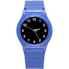 Black Gothic Round Plastic Sport Watch (s)