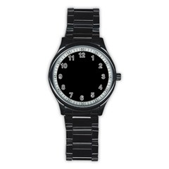 Black Gothic Stainless Steel Round Watches by Costasonlineshop