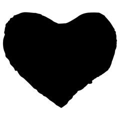 Black Gothic Large 19  Premium Flano Heart Shape Cushions by Costasonlineshop