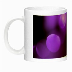 Purple Circles Night Luminous Mugs by timelessartoncanvas