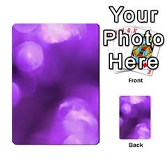 Purple Circles Multi Purpose Cards (rectangle)  by timelessartoncanvas
