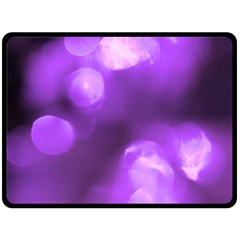 Purple Circles Fleece Blanket (large)  by timelessartoncanvas