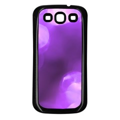 Purple Circles Samsung Galaxy S3 Back Case (black) by timelessartoncanvas