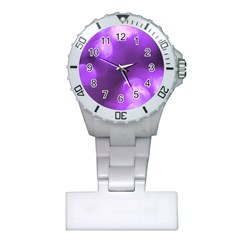 Purple Circles Nurses Watches by timelessartoncanvas