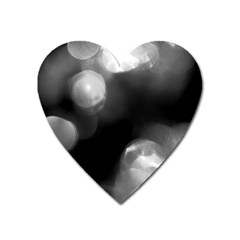 Black And White Circle Heart Magnet by timelessartoncanvas