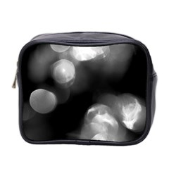 Black and White Circle Mini Toiletries Bag 2-Side by timelessartoncanvas