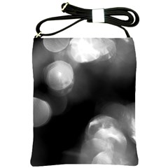 Black And White Circle Shoulder Sling Bags by timelessartoncanvas