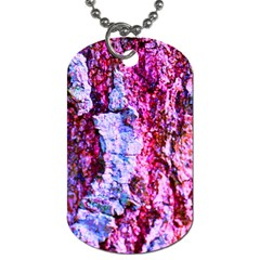 Purple Tree Bark Dog Tag (two Sides) by timelessartoncanvas