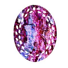 Purple Tree Bark Oval Filigree Ornament (2 Side)  by timelessartoncanvas