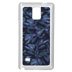 Tropical Dark Pattern Samsung Galaxy Note 4 Case (white) by dflcprints