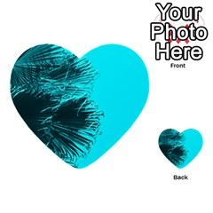 Modern Palm Leaves Multi Purpose Cards (heart)