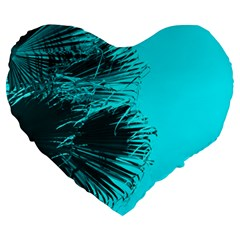 Modern Palm Leaves Large 19  Premium Flano Heart Shape Cushions by timelessartoncanvas