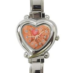 Embrace Love  Heart Italian Charm Watch by KentChua