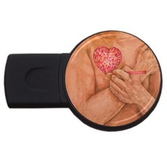 Embrace Love  Usb Flash Drive Round (4 Gb)  by KentChua