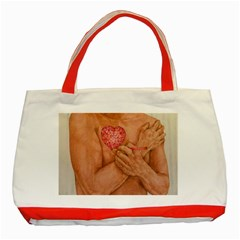 Embrace Love  Classic Tote Bag (red)  by KentChua