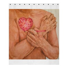 Embrace Love  Shower Curtain 60  X 72  (medium)  by KentChua