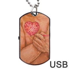 Embrace Love  Dog Tag Usb Flash (two Sides)  by KentChua