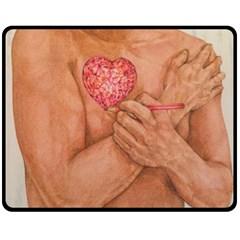 Embrace Love  Double Sided Fleece Blanket (medium)  by KentChua