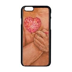 Embrace Love  Apple Iphone 6/6s Black Enamel Case by KentChua