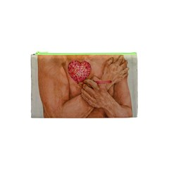 Embrace Love  Cosmetic Bag (xs) by KentChua