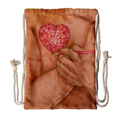 Embrace Love  Drawstring Bag (large) by KentChua
