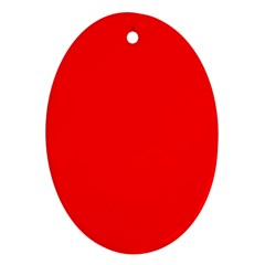 Trendy Red  Ornament (oval)