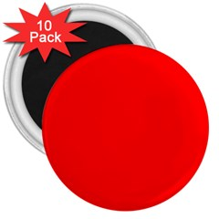 Trendy Red  3  Magnets (10 Pack)