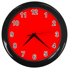 Trendy Red  Wall Clocks (black) by Costasonlineshop