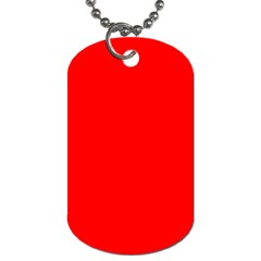 Trendy Red  Dog Tag (Two Sides) by Costasonlineshop