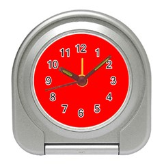 Trendy Red  Travel Alarm Clocks by Costasonlineshop