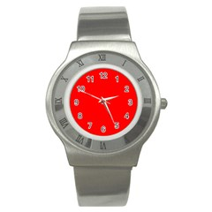 Trendy Red  Stainless Steel Watches by Costasonlineshop