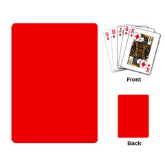 Trendy Red  Playing Card by Costasonlineshop