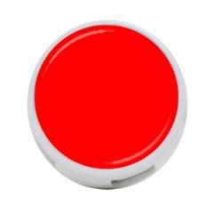 Trendy Red  4-Port USB Hub (One Side) by Costasonlineshop