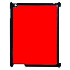 Trendy Red  Apple Ipad 2 Case (black)