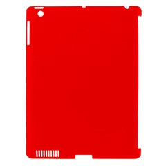 Trendy Red  Apple Ipad 3/4 Hardshell Case (compatible With Smart Cover)