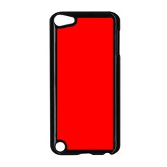 Trendy Red  Apple Ipod Touch 5 Case (black) by Costasonlineshop