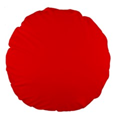 Trendy Red  Large 18  Premium Flano Round Cushions by Costasonlineshop