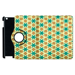 Stars And Squares Patternapple Ipad 2 Flip 360 Case by LalyLauraFLM