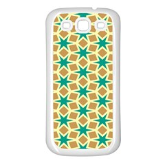 Stars And Squares Pattern			samsung Galaxy S3 Back Case (white) by LalyLauraFLM