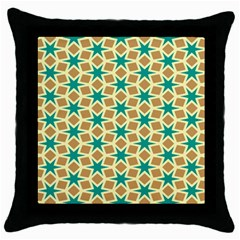 Stars And Squares Pattern			throw Pillow Case (black) by LalyLauraFLM