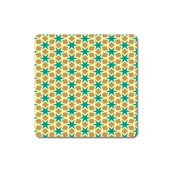 Stars And Squares Pattern			magnet (square) by LalyLauraFLM