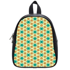 Stars And Squares Pattern			school Bag (small) by LalyLauraFLM