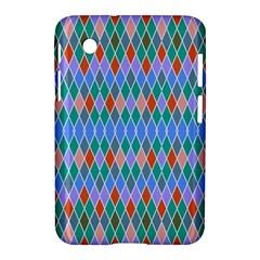 Pastel Rhombus Patternsamsung Galaxy Tab 2 (7 ) P3100 Hardshell Case by LalyLauraFLM