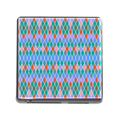 Pastel Rhombus Pattern			memory Card Reader (square) by LalyLauraFLM