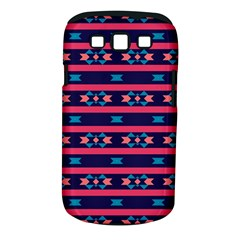 Stripes And Other Shapes Pattern			samsung Galaxy S Iii Classic Hardshell Case (pc+silicone) by LalyLauraFLM